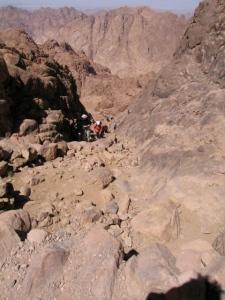 På väg uppför Sinai.