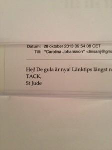 Mail från St Jude