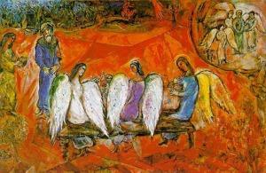 Chagall, Abraham & 3 Angels 1954-67