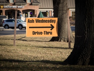 For the fourth year, Colonial Church, United Church of Christ, in Prairie Village, Kan., is offering drive thru service on Ash Wednesday, Feb. 10, 2016. . Religion News Service photo by Sally Morrow